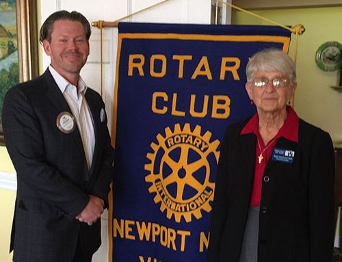 Rotary Club of Newport News Hosts Sister David Ann Niski of HDC of Hampton Roads