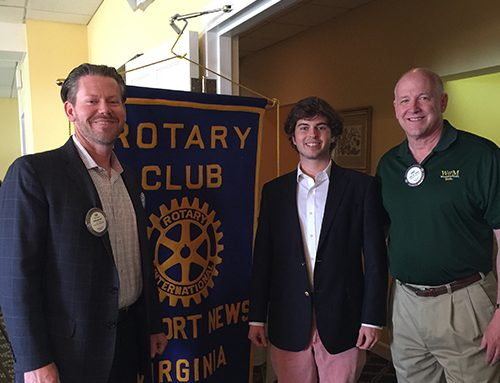Rotary Club of Newport News Hosts CNU Scholarship Recipient Bruin Richardson