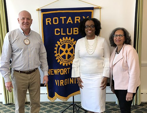 Rotary Club of Newport News Hosts Speaker Michelle Marks-Osborne